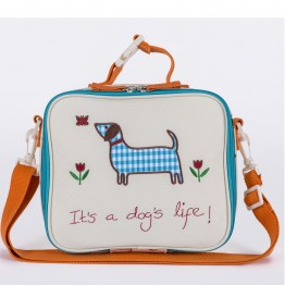 Τσάντα φαγητού  lunchbox   its dogs life  Pink Lining