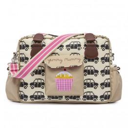 Τσάντα αλλαγής  yummy mummy black cabs Pink Lining