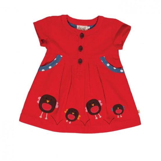 Φόρεμα Robin Cord Tomato Frugi