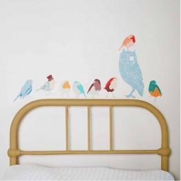 Αυτοκόλλητο Τοίχου Πουλιά Αγόρι