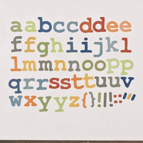 Αυτοκόλλητο Τοίχου Alphabet