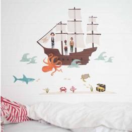 Αυτοκόλλητο Τοίχου Πειρατικό Καράβι