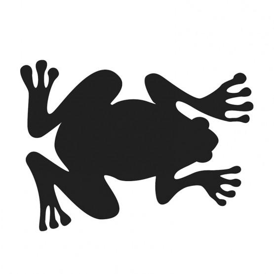 Αυτοκόλλητο Τοίχου Βάτραχος Μαυροπίνακας