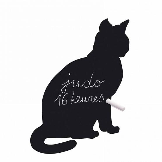 Αυτοκόλλητο Τοίχου Γάτα Μαυροπίνακας