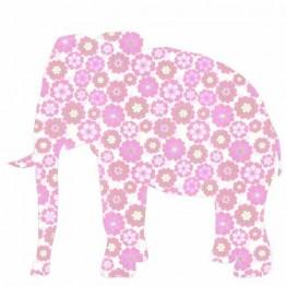 Ταπετσαρία Παιδική Ροζ Ελέφαντας Inke