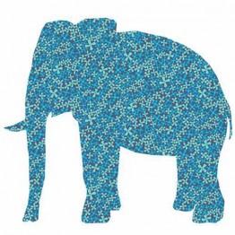 Ταπετσαρία Παιδική  Μπλέ  Ελέφαντας Inke