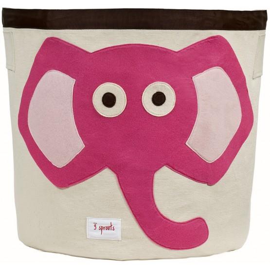 Αποθηκευτικό Καλάθι Ροζ Ελέφαντας