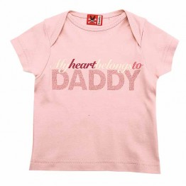T-Shirt My Heart Belongs To Daddy No Added Sugar