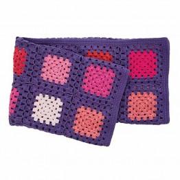 Πλεκτό Κουβερτάκι Για Μωρό Square Lilac Sebra