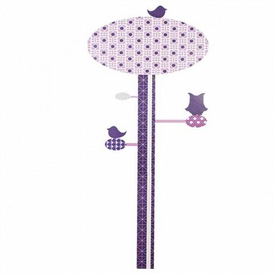 Αυτοκόλλητο Τοίχου Μέτρησης Υψους Lilac Sebra