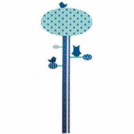 Αυτοκόλλητο Δέντρο Μέτρησης Ύψους Blue Sebra