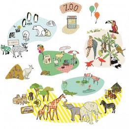 Αυτοκολλητο Τοιχου The Zoo Mimilou