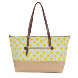 Τσάντα Αλλαγής Notting Hill Tote Sunflowers Pink Lining