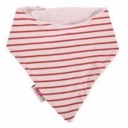 Minene bandana bib red stripes