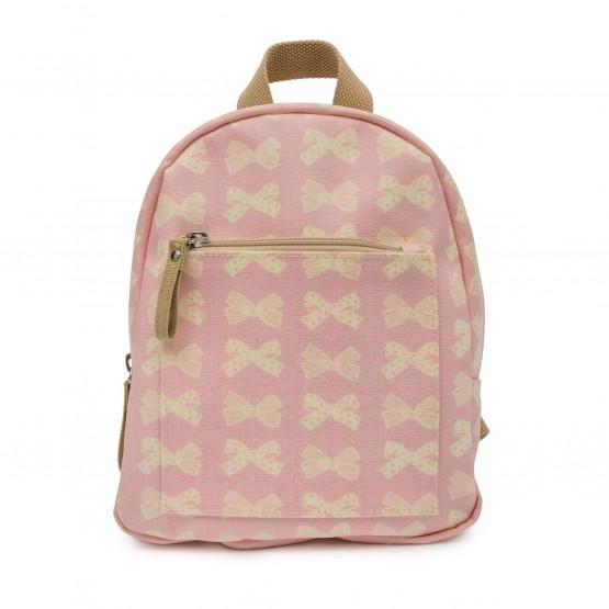 Παιδικό σακίδιο mini rucksack cream bows on pink Pink Lining