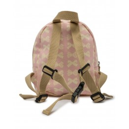Παιδικό σακίδιο mini rucksack cream bows on pink Pink Lining