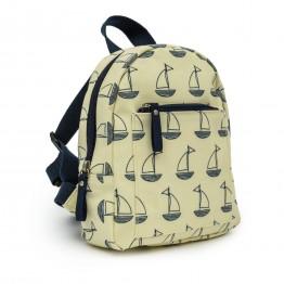 Παιδικό σακίδιο mini rucksack navy and cream boats Pink Lining