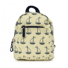 Παιδικό σακίδιο mini rucksack navy and cream boats Pink Lining