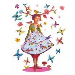 Djeco Αυτοκόλλητα τοίχου 'η Ροζυ το δεντρο'