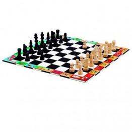 Djeco Σκάκι με ξύλινα πιόνια σε βαλιτσάκι