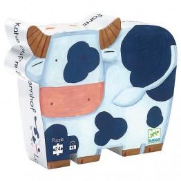 Djeco Πάζλ από σκληρό χαρτόνι αγελαδίτσα φάρμα