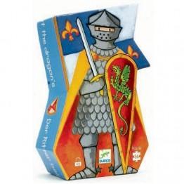 Djeco Πάζλ από χονδρό χαρτόνι κουτί παιχνίδι 'Ιππότης'