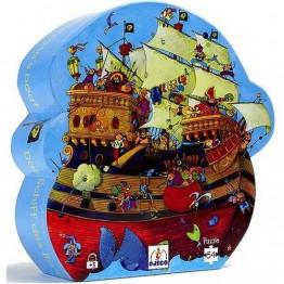 Djeco Πάζλ από χονδρό χαρτόνι κουτί παιχνίδι 'Πειρατικό