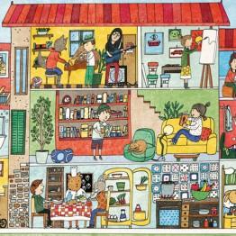 Djeco Πάζλ ανακάλυψης 'Το σπίτι'