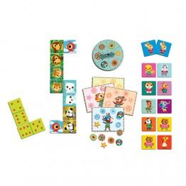 Djeco 3 επιτραπεζια παιχνιδια, ντομινο, μπιγκο, μεμο ΄Little friends'