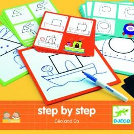 Djeco ζωγραφική βήμα-βήμα 'Εικόνες με σχήματα'