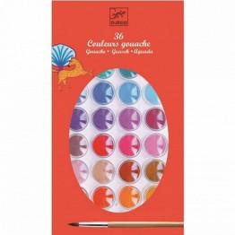 Djeco Σχεδίων νερομπογιές με 36 χρώματα