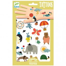 Djeco Τατουάζ 'Χαρούμενα ζωάκια'