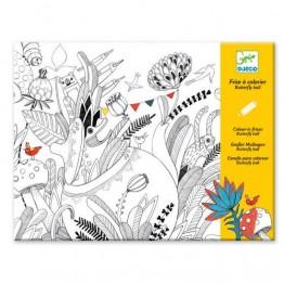 Djeco Ζωγραφίζω Λουλούδια και πουλιά