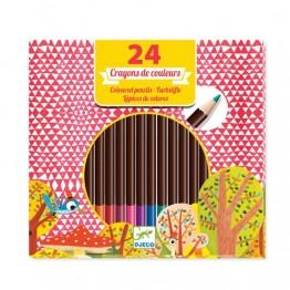 Djeco Σετ ζωγραφικής 24 χρώματα