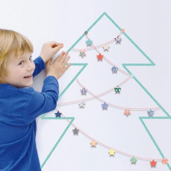 Aυτοκόλλητο Τοίχου'' Χριστουγεννιάτικο Δέντρo''