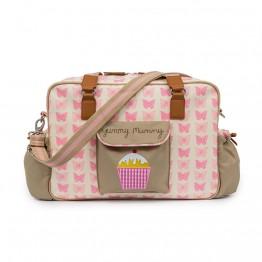 Τσάντα αλλαγής yummy mummy pink butterflies Pink Lining
