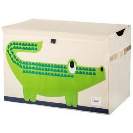 3 sprouts καλάθι για παιχνίδια με καπάκι crocodile
