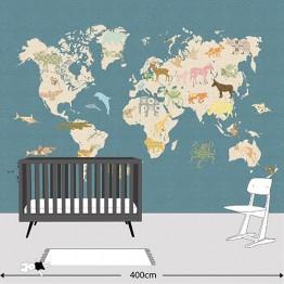 Ταπετσαρία World map INKE