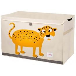 3 sprouts καλάθι για παιχνίδια με καπάκι leopard