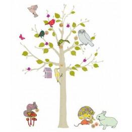 Αυτοκόλλητο τοίχου δέντρο Mimilou