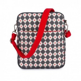 Τσαντάκι αλλαγής out and about mini messenger diamond heart Pink Lining