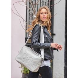 Τσάντα αλλαγής Hoxton Vegan Leather Grey Pink Lining