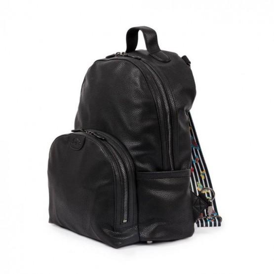 Τσάντα αλλαγής Shoreditch Rucksack Vegan leather Black Pink Lining