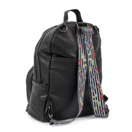 Τσάντα αλλαγής Shoreditch Rucksack Vegan leather Black Pink Lining