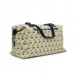 Τσάντα ταξιδιού bridget holdall navy and cream boats Pink Lining