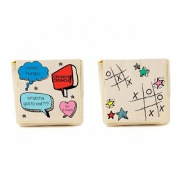 Organic cotton snack pack chatter