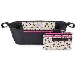 Stroller Organiser Dalmatian Fever Pink Lining